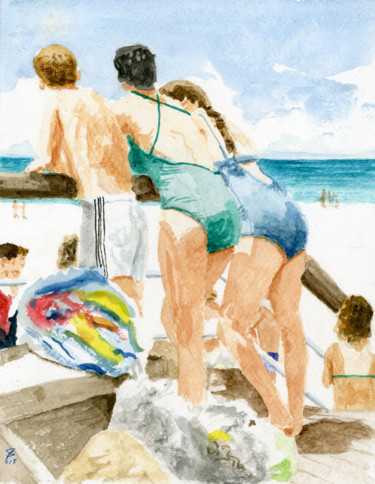 Painting, watercolor, figurative, artwork by Jim Fischer